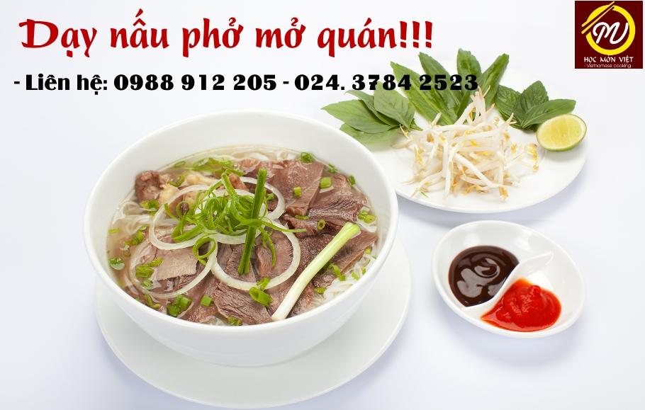 Học nấu phở ở Hà Nội để mở quán kinh doanh thành công!