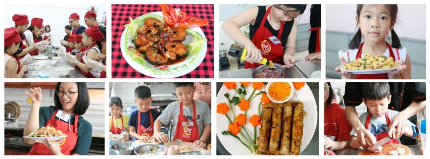 Những hình ảnh của các lớp dạy nấu ăn dành cho trẻ em!