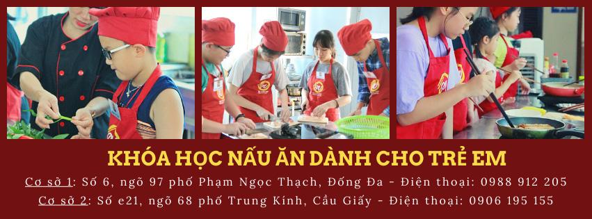 Lớp dạy nấu ăn dành cho trẻ em trong dịp hè