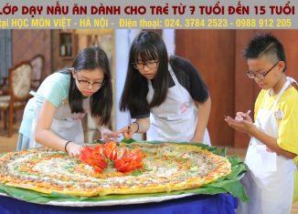 Lớp dạy nấu ăn dành cho trẻ em