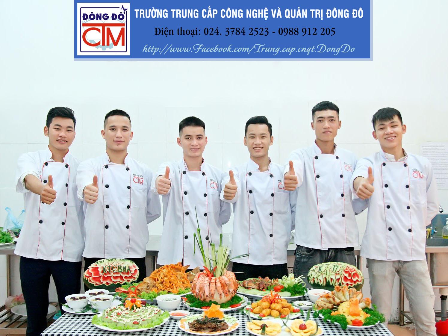 đào tạo trung cấp nấu ăn cấp tốc 8 tháng
